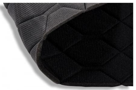 Jersey matelassé noir